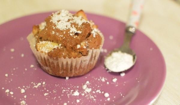 veganes muffin rezept mit apfel kakao und rosinen quelle blog. Black Bedroom Furniture Sets. Home Design Ideas