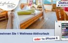 QUELLE JACKPOT: Gewinnen Sie einen Wellness-Aktivurlaub oder ein iPhone6!