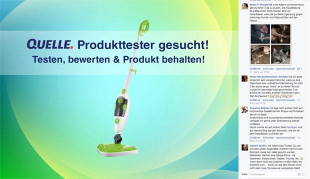 Teilnahme beim Produkttester