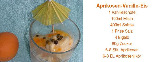 Aprikosen-Vanille-Eis