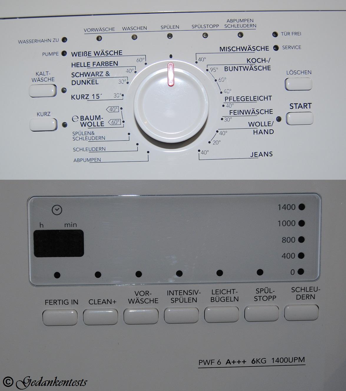 QUELLE Produkttester Waschmaschine von Privileg
