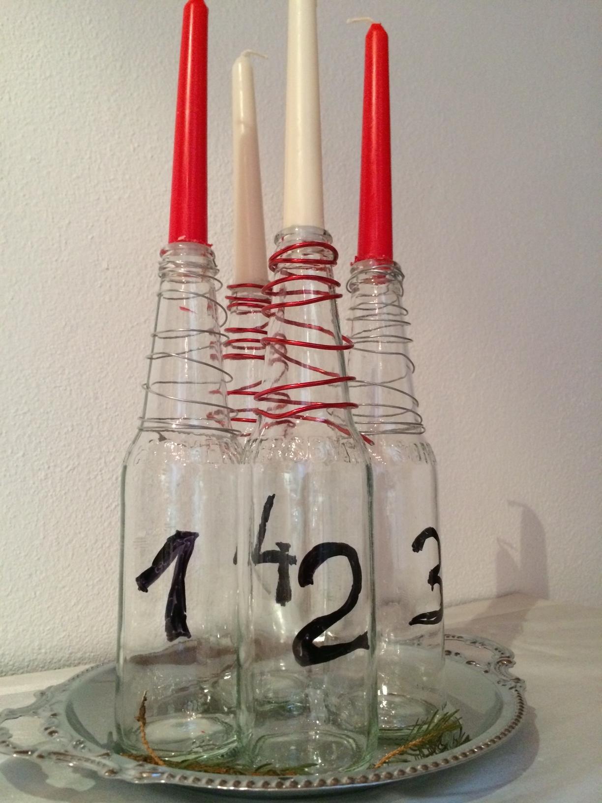 Adventkranz selber machen quelle blog for Leere flaschen dekorieren