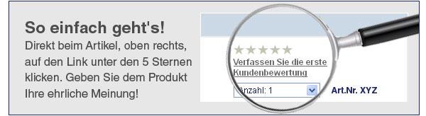 Bewertung schreiben und € 500,- Gutschein gewinnen!