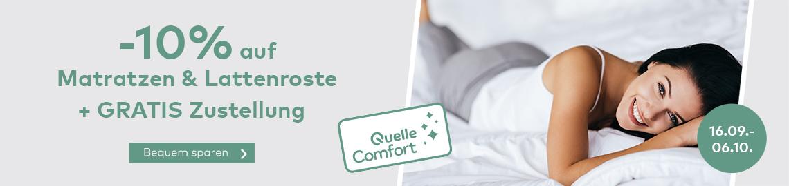 -10% Rabatt auf Matratzen & Lattenroste + GRATIS ZUSTELLUNG im Quelle Online Shop