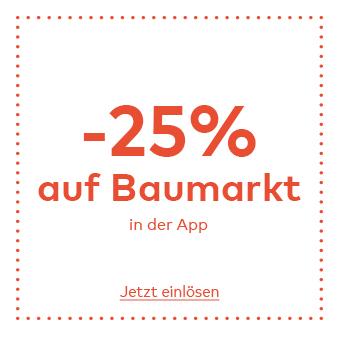 -25% Rabatt auf Baumarkt exklusiv in der Quelle App