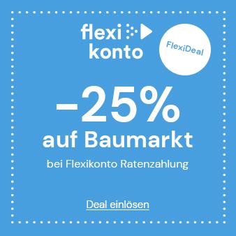 -25% auf Baumarkt bei Ratenzahlung im Quelle Online Shop