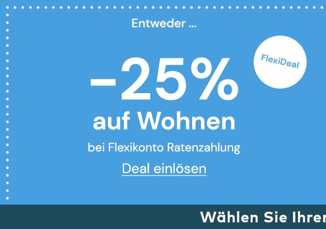 -25% auf Wohnen bei Ratenzahlung im Quelle Online Shop