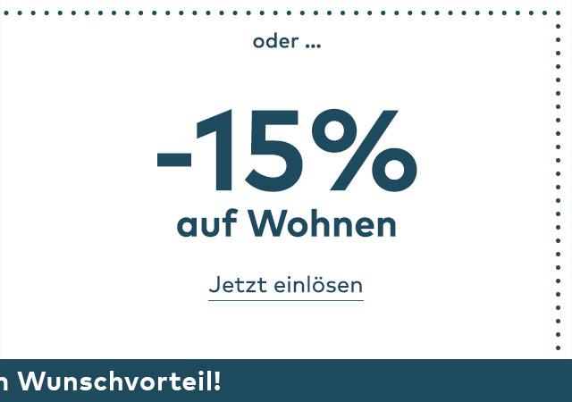-15% auf Wohnen im Quelle Online Shop